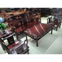 中山红木家具厂特价出售南美酸枝明式小沙发组合5件套云鑫臻品