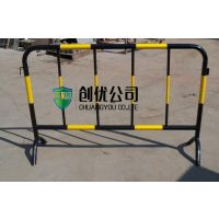1.2*2m移动黄黑临时护栏 道路隔离栏防护铁马护栏