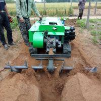 履带式多功能柴油动力茶园果林除草松土机 果园果树开沟施肥机