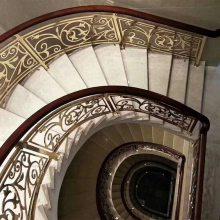 盐城订做铜艺楼梯护栏 定制镜面扶手 铜护栏 订做新型楼梯护栏