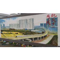 墙绘3D彩绘手绘涂鸦壁画立体艺术