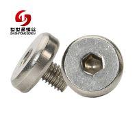龙华厂家生产不锈钢平头螺丝 M5*6.6手拧机械不锈钢平头螺丝