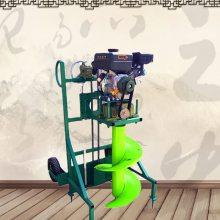 山西省飞机场篱笆埋桩打眼机 果园施肥钻坑机 双人操作栽树挖坑机价格
