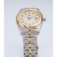 新品上新华亚手表不锈钢金色真皮休息男士腕表石英手表男可定制批发