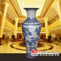景德镇陶瓷器花瓶 落地大号仿古清明上河图青花瓷瓶酒店客厅摆件