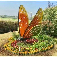 江门花园生态基地玻璃钢蝴蝶造型雕塑观光摆件