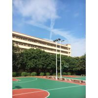 广东篮球场高杆灯安装 6米7米球场杆灯配置 6-18米镀锌灯柱定制康腾体育