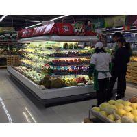 乐山精品水果店环岛柜,有机蔬菜水果风幕柜,徽点厂家直销生鲜冷柜