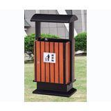 阜阳鸿鑫文体销售塑料环卫垃圾桶 铁皮 钢木垃圾桶销售价格地址 多种规格样式