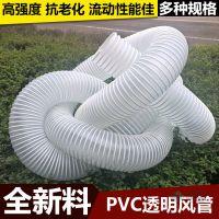 厂家直销透明软管PVC增强塑料筋骨排风吸尘 125mm通风管弹簧管
