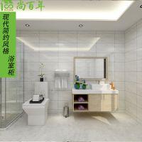 尚百年全铝家居全新推出人造石台面太空铝挂墙式浴室柜现代简约防水防潮
