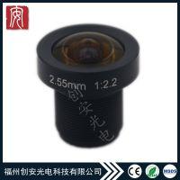 车载镜头靶面1/4焦距2.55百万像素光圈F2.0TTL20.25螺纹M12*P0.5