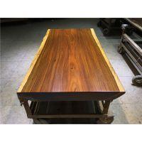 有家木业 奥坎实木大板桌进口原木办公桌书桌茶台简约现代家具茶桌画字案