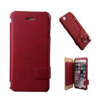 惠州手机皮套工厂仿皮翻盖式卡袋5寸纯色手机保护壳OEM来样订制