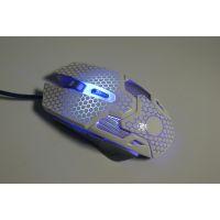 电脑及配件发光游戏鼠标 得手品牌电竞鼠标 裂纹鼠标,2017网咖专用款