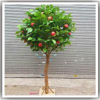 定做仿真苹果树 橘子树 桃子树 榴莲树 橄榄树 广东仿真树厂家