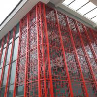 博物馆中式仿古防火造型铝窗花