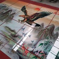 5D琉璃彩背景墙生产需要哪些配套机器/精工uv2030瓷砖打印机
