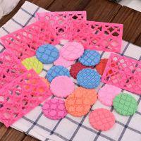 粉色饼干印模蛋糕翻糖曲艺印花模具格纹款爱心花朵蝴蝶结带手柄
