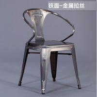 森美源定制铁艺个性创意美式loft工业风格复古怀旧餐厅餐桌餐椅组合搭配