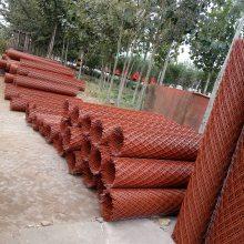 山西玉米种植网 圈玉米菱形网 红漆菱形网厂家