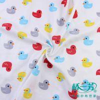 双层印花面料,婴儿服饰纯棉纱布