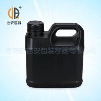 HDPE 1L化工扁罐 1000g塑料包装桶 厂家直销 价格优惠