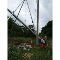 河北 铝合金立杆机 立杆三角拔杆 电线杆立杆机价格 洪鑫直销