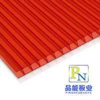 厂家专用提供pc12mm6mm双层湖蓝茶色多层结构插接透明阳光板