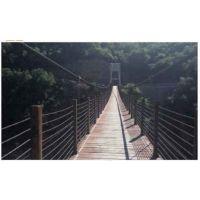 悬空防腐木吊桥