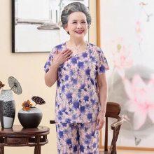 成都5元便宜中老年服装批发市场中老年夏季套装打底衫妈妈装太婆衫