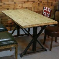 麦德嘉MDJ-ZT02全实木圆形桌椅主题餐厅音乐吧餐桌靠背叉椅美式乡村家具