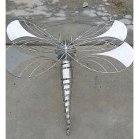蜻蜓雕塑,动物不锈钢雕塑,番禺钟村金属雕塑工艺品