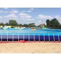 河南充气水滑梯价格 优质充气游乐水上设备生产