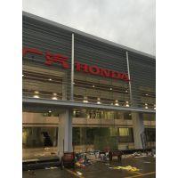 广东德普龙单层防雨铝百叶窗易安装厂家直销
