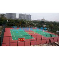 标准羽毛球场地 水性丙烯酸球场材料 体育设施公司工程施工