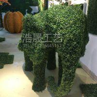 陕西西安仿真米兰草大象绿雕 动物造型逼真 摆放装饰园林广场 仿真绿雕可定制