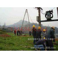 河北霸州厂家10-15米铝合金人字管式抱杆扒杆加法兰
