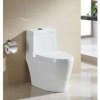 家用酒店卫浴白色陶瓷静音节水虹吸式连体座便器马桶