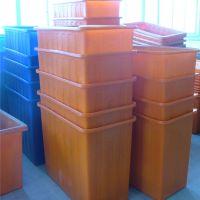 厂家直销600L升食品级牛筋塑料浅盆方箱泡瓷砖水产养殖储水周转箱