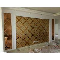 焕彩定制白水珠夹胶背景墙玻璃 影视墙拼镜 出口品质