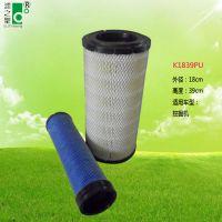 广州市除尘专家K1839PU挖掘机 除尘滤芯滤筒 汽车风机空气滤芯 空气净化器