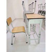 麦德嘉MDJ-KZY08D供应钢木结构小学生课桌椅疯狂英语培训班上课板式桌椅公司开会桌子