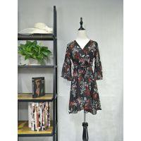 广州伊曼服饰品牌服装尾货批发市场,新款雪纺连衣裙