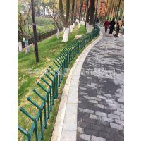 南京绿化带护栏 锌钢绿化带草坪围栏 马路两侧护栏 热镀锌材料喷
