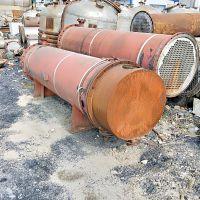 现货出售二手冷凝器 80平方不锈钢列管冷凝器 管式换热器