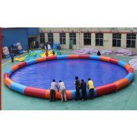 赚钱的小本生意就选充气泳池 50平米室外露天游泳池玩具 充气娱乐园水池价位