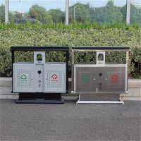 户外大容量钢板垃圾桶 环卫小区垃圾桶 广场果皮箱 厂家批发