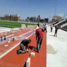 天津市羽毛球场运动跑道供货商 奥博足球场塑胶跑道售后好