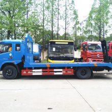 150挖机拖车厂价东风多利卡中型挖掘机平板运输车价格3.5L排量